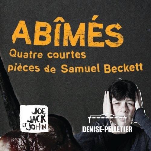 Publicité pour la pièce Abîmés du théâtre Joe, Jack et John