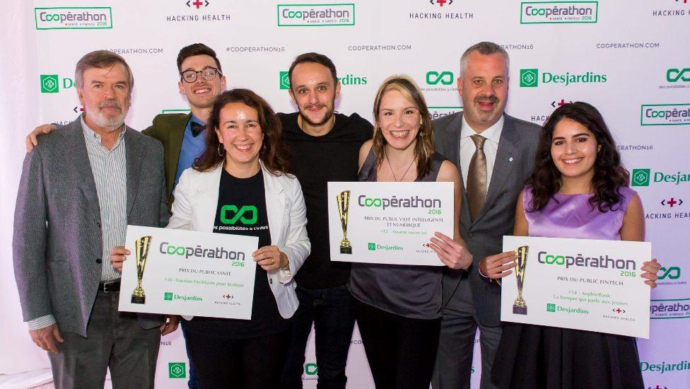 Récipiendaires du prix Coopérathon Desjardins