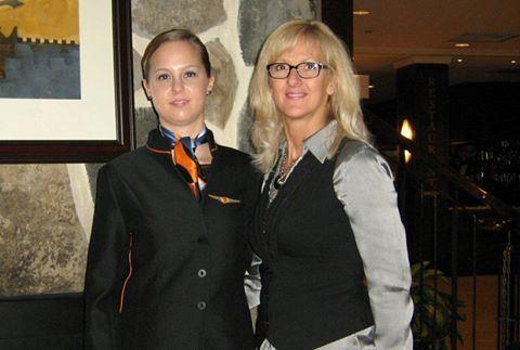 Catherine Binette et Carole Paiement, avant l'accident de Catherine.
