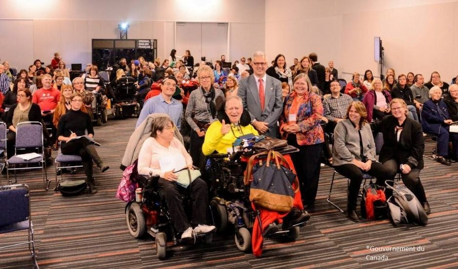 Participants aux consultations de Canada Accessible à Montréal.