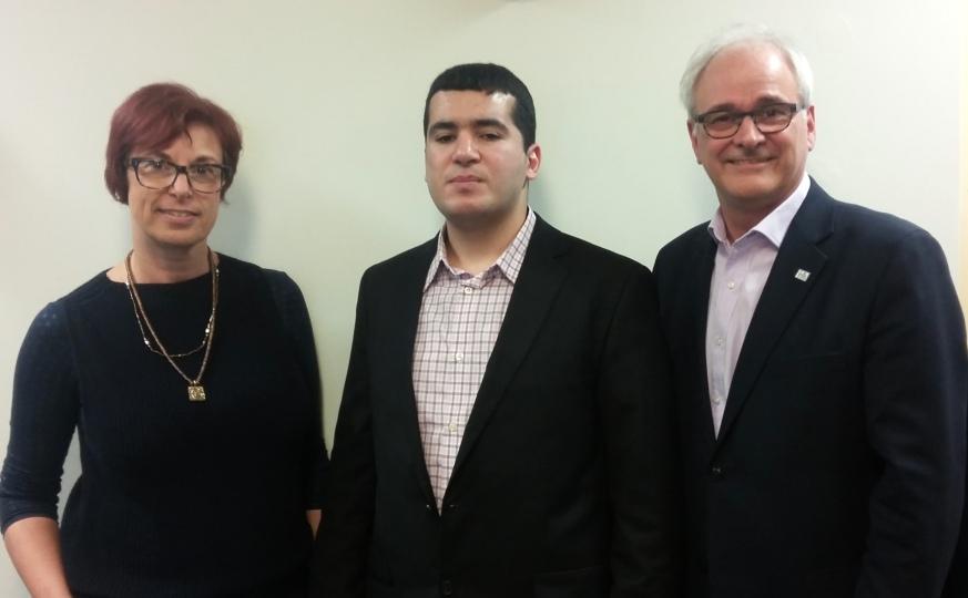 Lyne Brissette, Juba Sahrane, Michel Poulin.