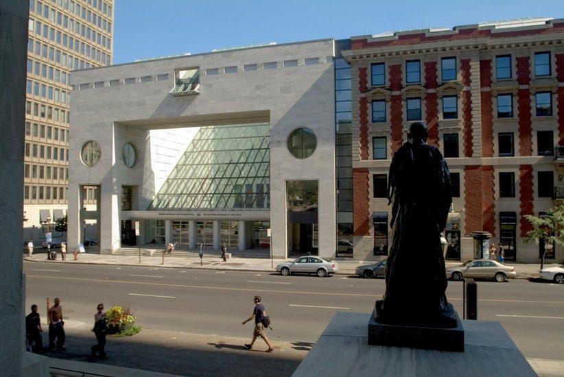 Le pavillon Desmarais du Musée des Beaux-arts de Montréal.