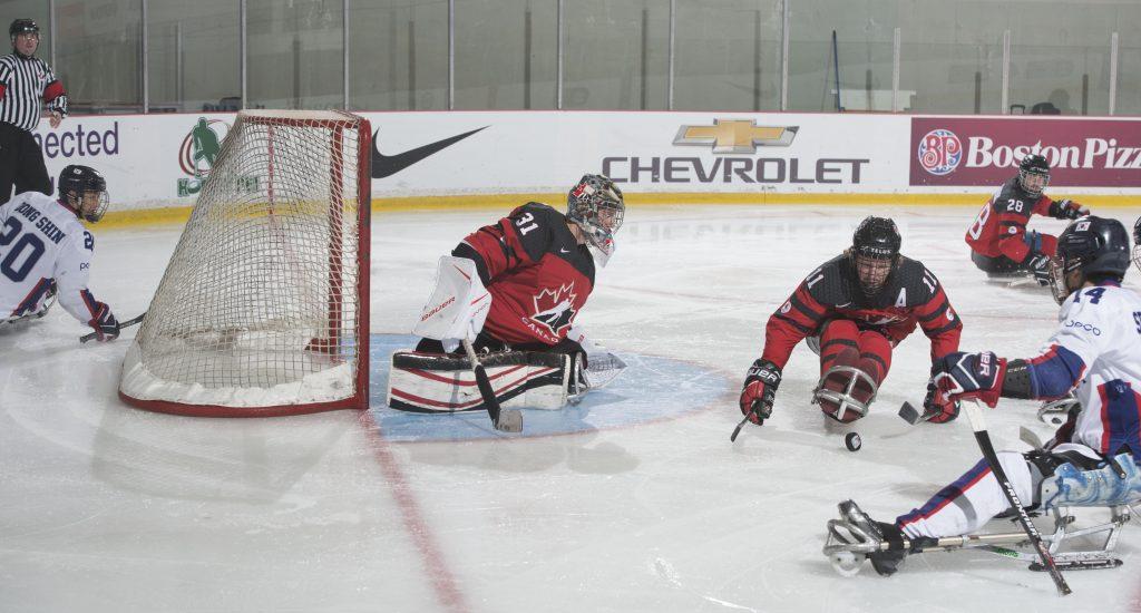 Charlottetown, PE - Dec 7 2017 -  Game 8 - Semifinal - Canada vs. South Korea at the 2017 World Sledge Hockey Challenge at MacLauchlan Arena in Charlottetown, Prince Edward Island, Canada (Photo: Matthew Murnaghan/Hockey Canada Images)