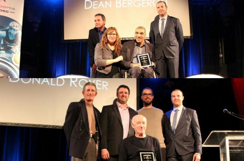 Dean Bergeron Daniel Royer recevant leurs prix.