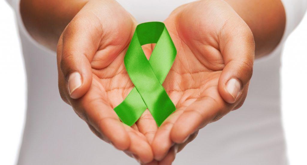 Le ruban vert, symbole du don d'organe.