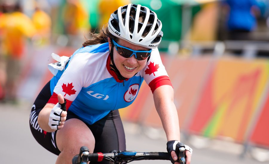 MolnarMarieClaude_Rio2016 RIO DE JANEIRO - 17/09/2016 Women's Cycling Road C4/5 Race at the Rio 2016 Paralympic Games at Pontal. (Photo by Angela Burger/Canadian Paralympic Committee)