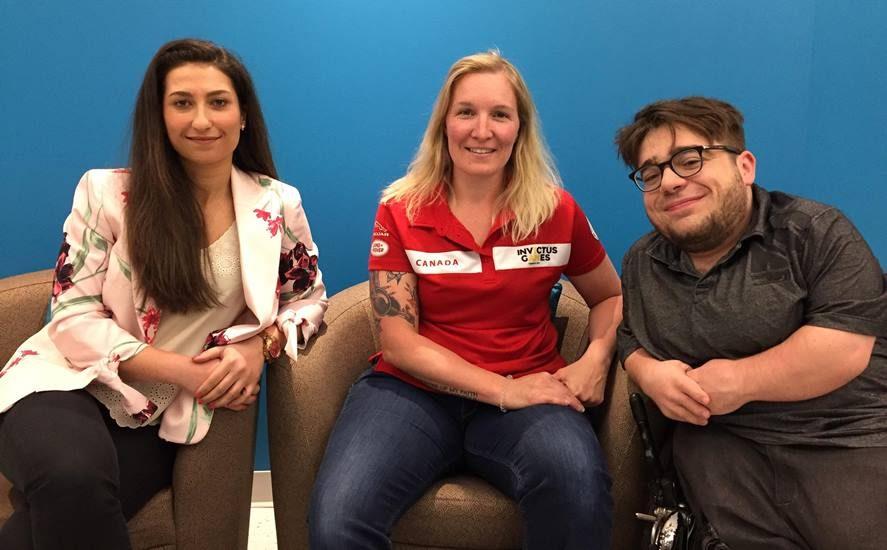 Mona Raouf, Julie Marcotte et Kéven Breton.