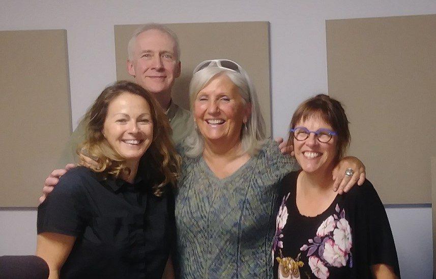 ArletteFara en compagnie de Francine Lareau, Sylvie rousseau et Pierre Yves Rivet.