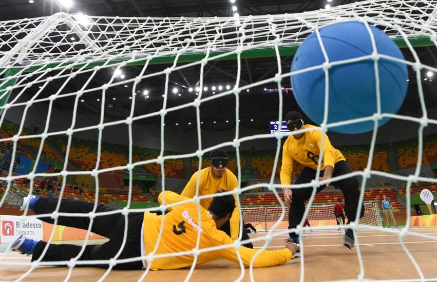Rio de Janeiro-Brazil, September 8, 2016 Paralympics Games in 2016, Goalball Brazil and USA