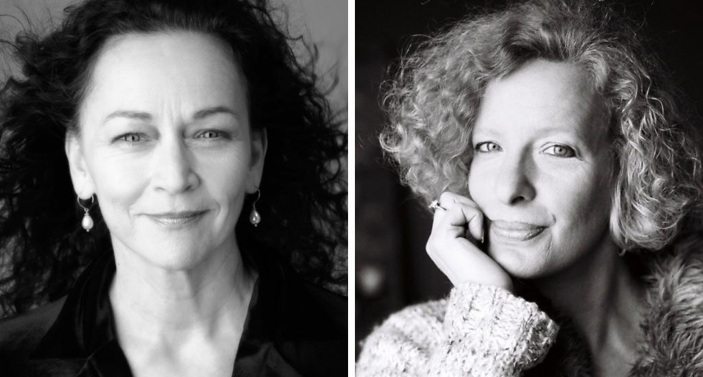 Sylvie Drapeau et Sylvie Brien (photos de presse des éditeurs, en noir et blanc.)