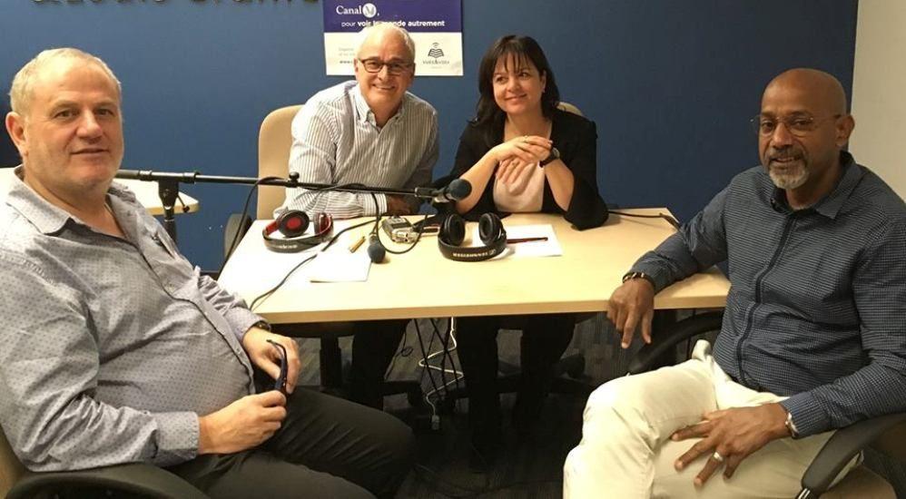 Pascal Clauson, Michel Poulin, Diane Felice et Patrick Sicot