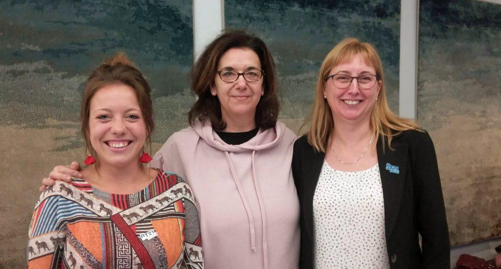 Katérie Vigeant, Hélène Denis et Geneviève Labrecque.