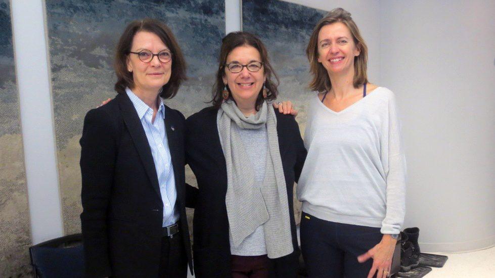Chantal Vaillancourt, Hélène Denis et Laure Colin.