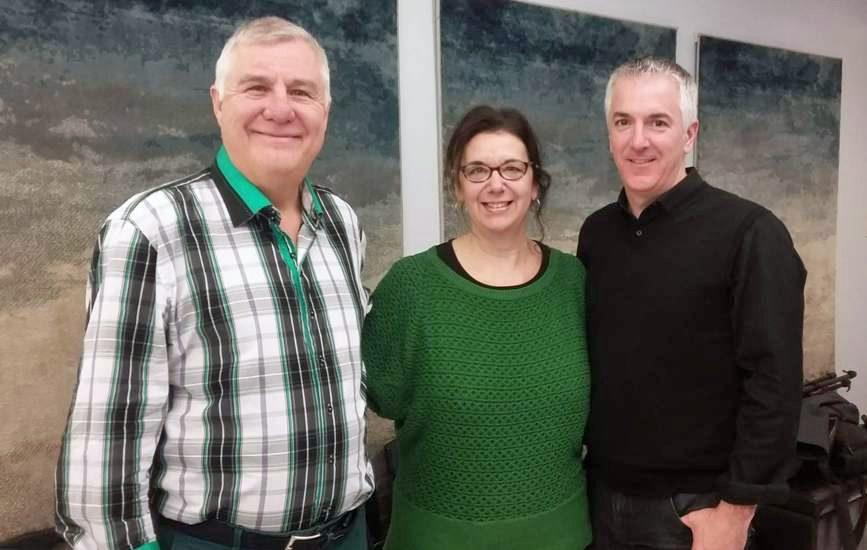 Sylvain Noël , Hélène Denis et Martin Asselin.