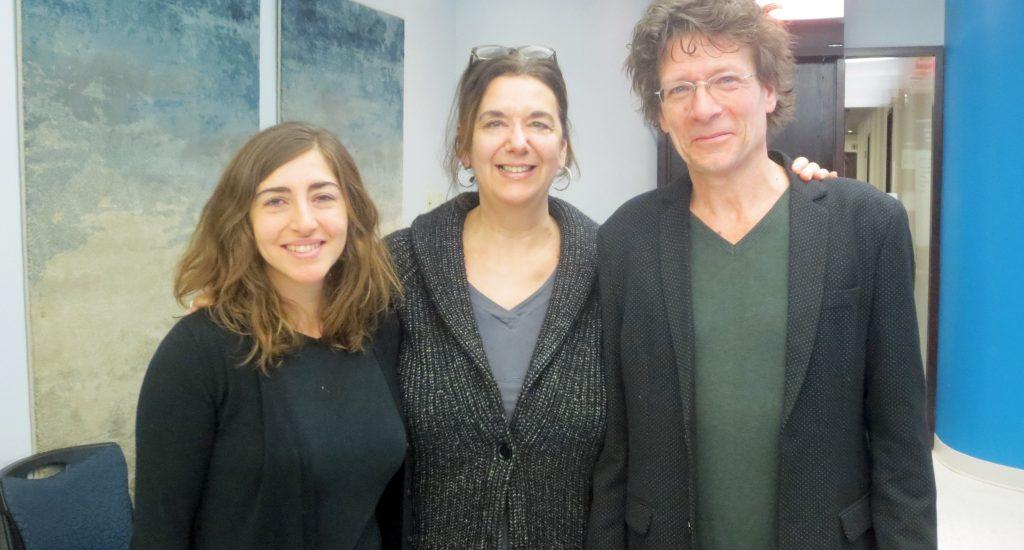 Hélène Denis et ses invités.