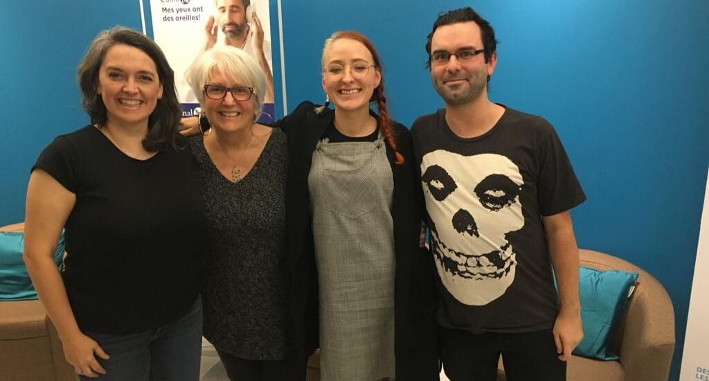 Arlette entourée de ses invités du 2 octobre 2019