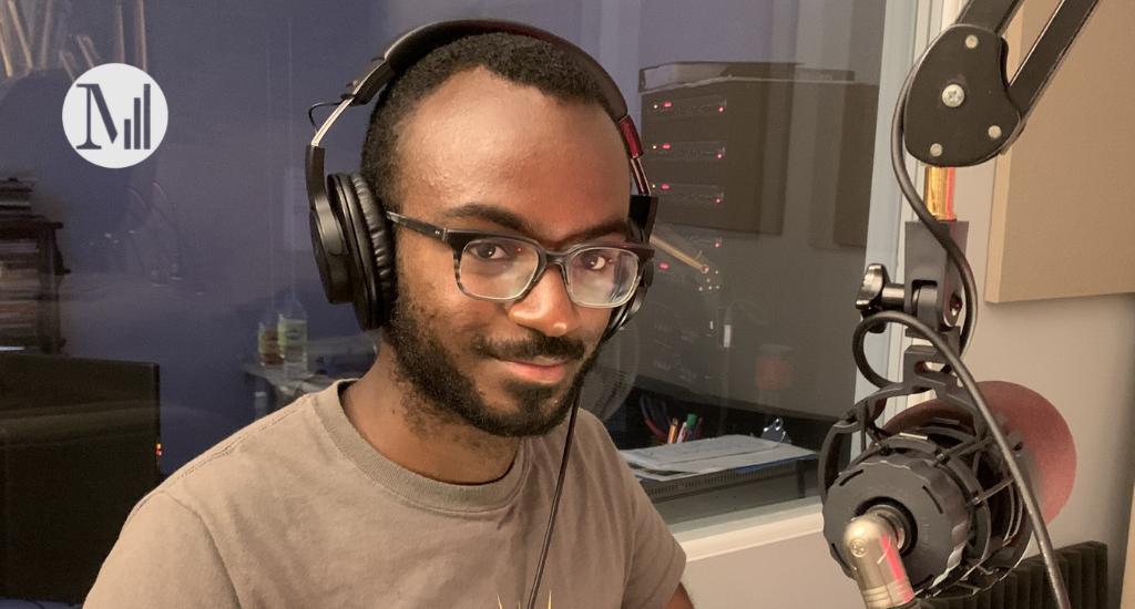 Photo de l'invité Junior Diakité, en studio a canal m